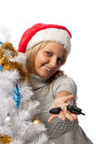 Christmas girl Royalty Free Stock Photo