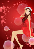 Christmas girl Royalty Free Stock Image