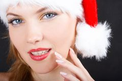 The christmas girl Stock Photos