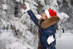 Christmas girl. Royalty Free Stock Image