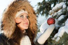 Christmas girl. Royalty Free Stock Image
