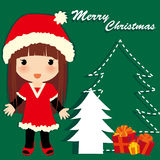 Christmas girl. Vector illustration about Christmas girl Royalty Free Illustration