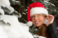 Christmas girl. Stock Images