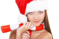 The christmas girl Royalty Free Stock Photos