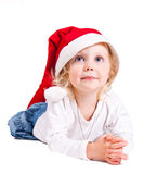 Christmas girl. Isolated on white background Royalty Free Stock Image