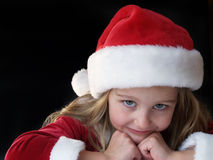 Christmas girl 2 Stock Images