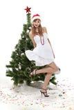 Christmas girl. Stock Photos