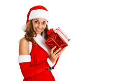 Christmas girl Stock Photos