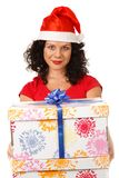 Christmas girl Stock Images
