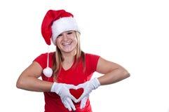 Christmas girl. Isolated on white background Stock Photography