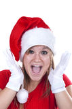 Christmas girl. Isolated on white background Royalty Free Stock Images
