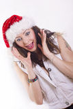 Christmas girl Royalty Free Stock Photos