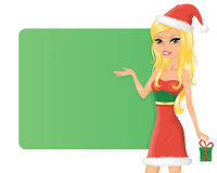 Christmas girl. Royalty Free Stock Photo