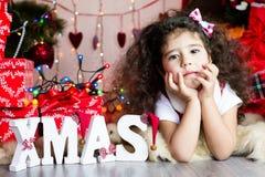 Christmas girl Stock Photography