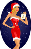 Christmas girl Royalty Free Stock Photography