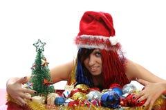 Christmas girl Stock Image