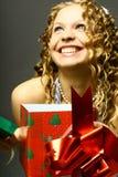 Christmas girl royalty free stock image
