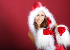Christmas girl Stock Image