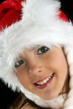 Christmas girl. Portrait with make-up Royalty Free Stock Photography