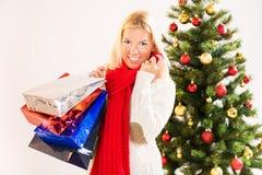 Christmas girl Stock Images