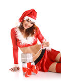 Christmas girl stock photo