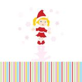 Christmas girl card Royalty Free Stock Photos