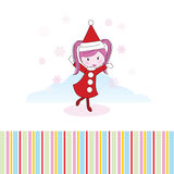Christmas girl card Royalty Free Stock Images