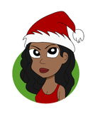Christmas girl cartoon Stock Images