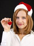 Christmas girl with christmas decoration Stock Image