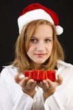 Christmas girl with christmas decoration Royalty Free Stock Image