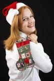 Christmas girl with Christmas stocking Royalty Free Stock Photos