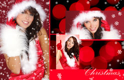 Christmas girl concept Stock Photos