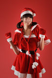 Christmas girl dancing Stock Images