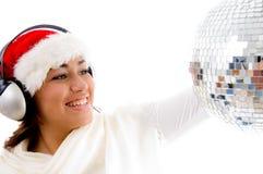 christmas girl gorgeous hat Στοκ φωτογραφία με δικαίωμα ελεύθερης χρήσης