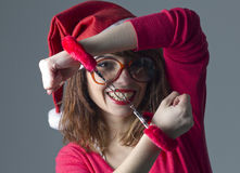 Christmas Girl handcuffed Stock Photography