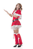 Christmas girl introduce Stock Photography