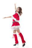 Christmas girl introduce Stock Images