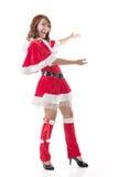 Christmas girl introduce Stock Image