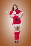 Christmas girl introduce Royalty Free Stock Photos