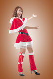 Christmas girl introduce Royalty Free Stock Photo