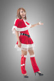 Christmas girl introduce Stock Photos