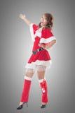 Christmas girl introduce Royalty Free Stock Image
