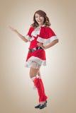 Christmas girl introduce Royalty Free Stock Photography