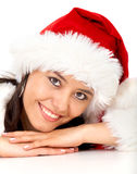 Christmas girl portrait Stock Image