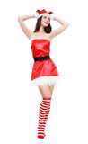 Christmas girl posing Stock Images