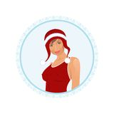 Christmas girl's face Stock Photography