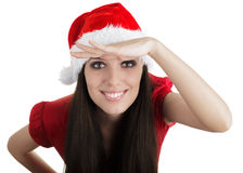 Christmas Girl Scouting Stock Photography