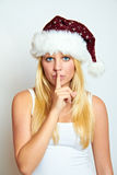 Christmas girl with a secret Stock Photos