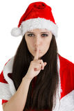 Christmas Girl with a Secret Royalty Free Stock Image