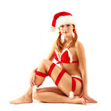 Christmas girl seductive Royalty Free Stock Image
